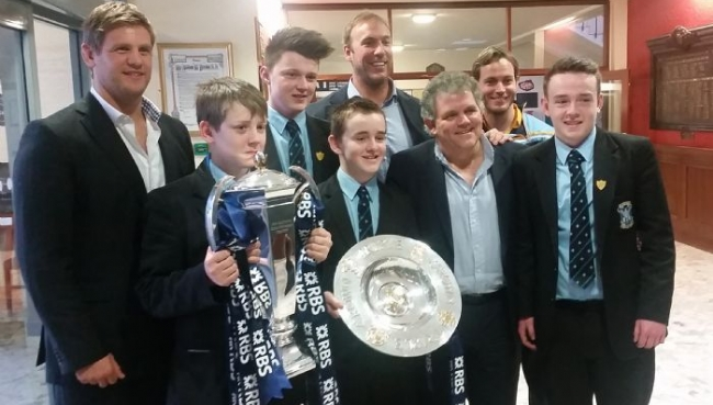 St Louis pupils meet Irish Rugby Players